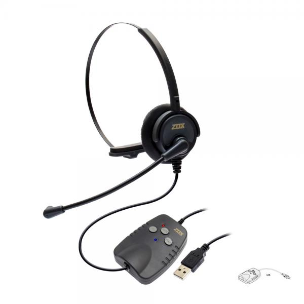 Adaptador de Áudio Digital USB para Headset ZOX DH-50